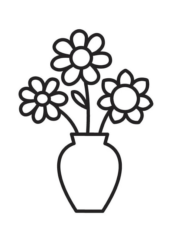 Flower Vase Coloring Page title=
