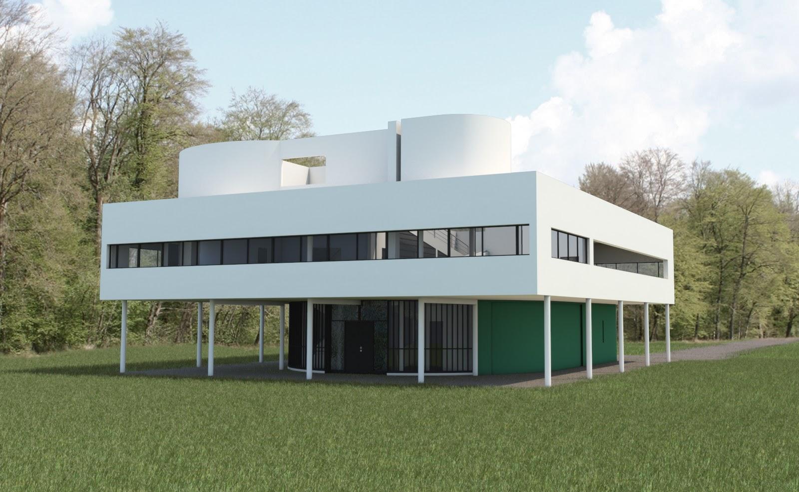 David bourdin villa savoye by le corbusier for Architecture le corbusier