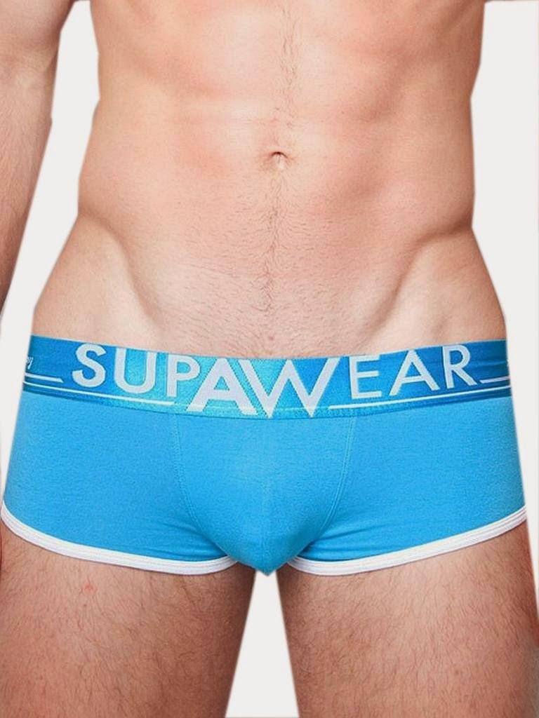 Supawear Supa Drive Mid-Trunk Underwear Cyan Detail Gayrado