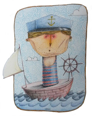 urka illustration sailor pencils