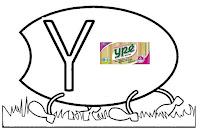Alfabeto centopeia letra Y