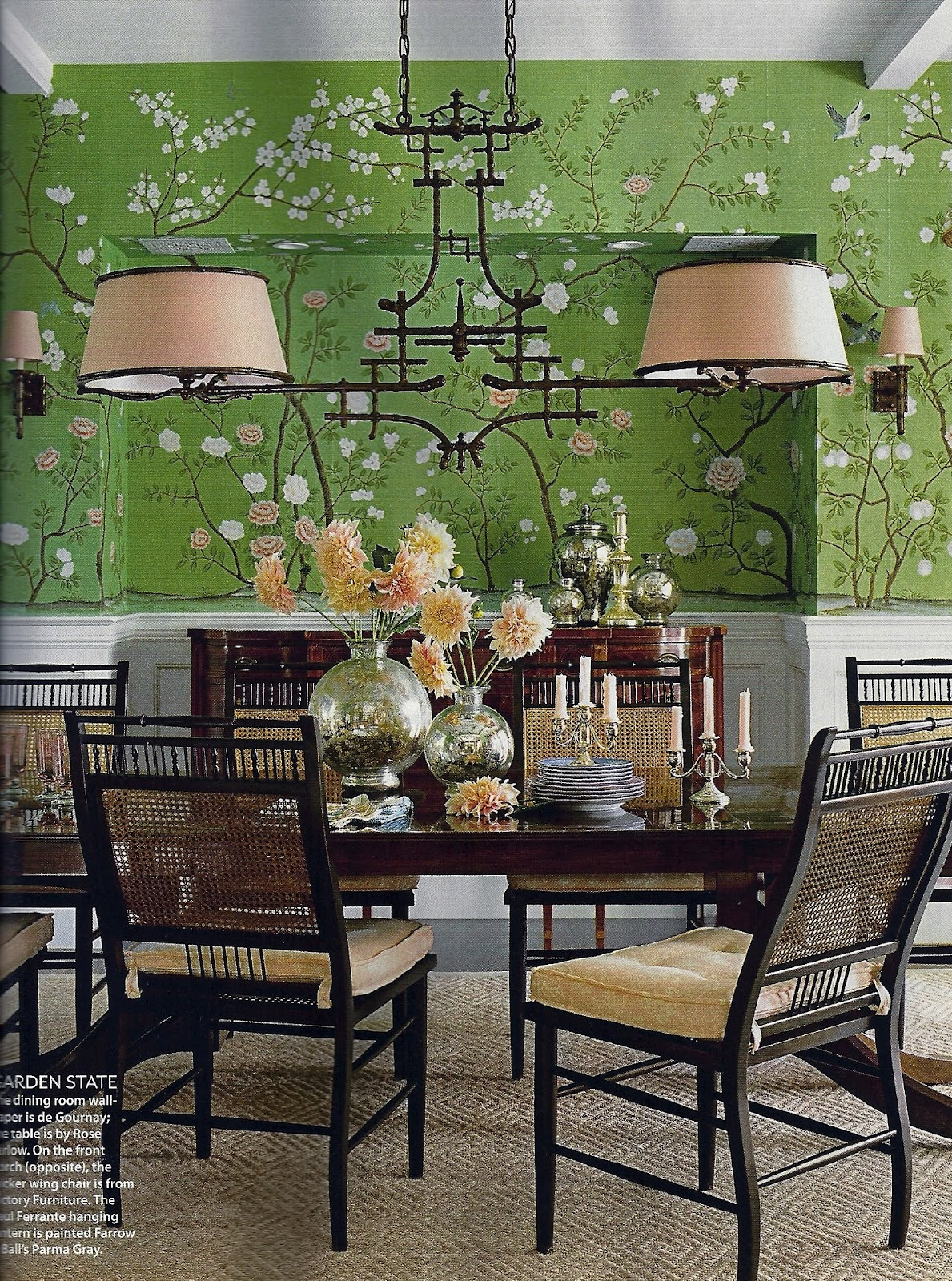Chinoiserie Lighting In The Dining Room Usually I Thumb Pretty Quickly Through My Issues Of Coastal Living Magazine But I Stopped In My Tracks On This