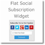 Superb Feedburner and Social subscription widget