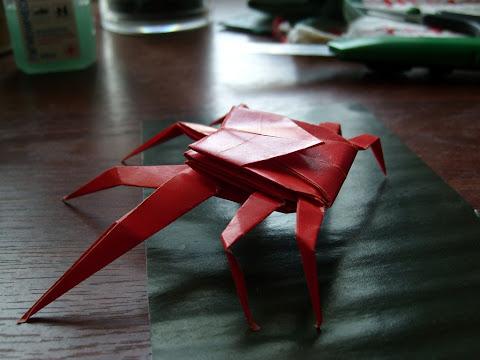 Оригами Краб-паук
