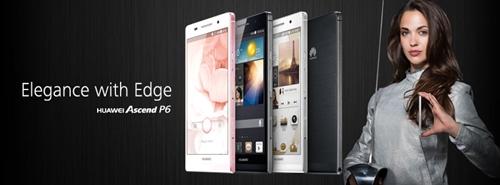 Huawei lança Ascend P6, smartphone mais fino do mundo