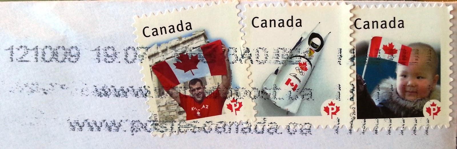 francobolli canadesi 2012