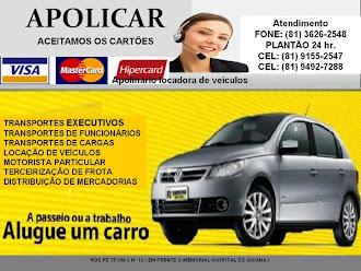 APOLINARIO  LOCADORA DE VEICULO   EM GOIANA  / FONE /9492/7288/ OU  3626.0923/!!!!!!!!!