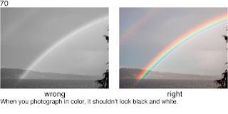 Совет 70. Когда вы снимаете красочный объект, типа радуги - постарайтесь что бы фото было все таки цветным