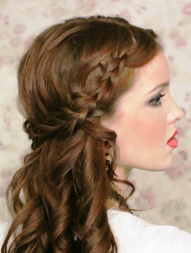 Peinados con trenzas de lado y rizos - Peinados paso a paso trenzas ...