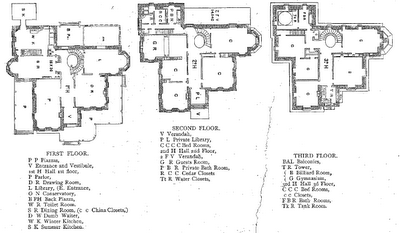 Gray Towers floor plans. G.G. Green's mansion in Woodbury, New Jersey