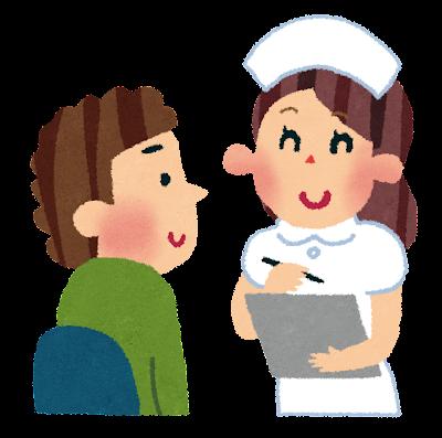 看護婦と問診のイラスト