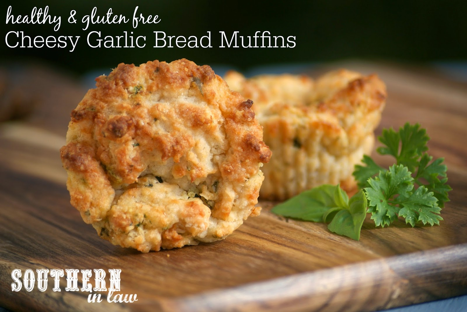 Healthy Cheesy Garlic Bread Muffins Recipe - Low Fat Gluten Free Cheese, Herb and Garlic Muffins