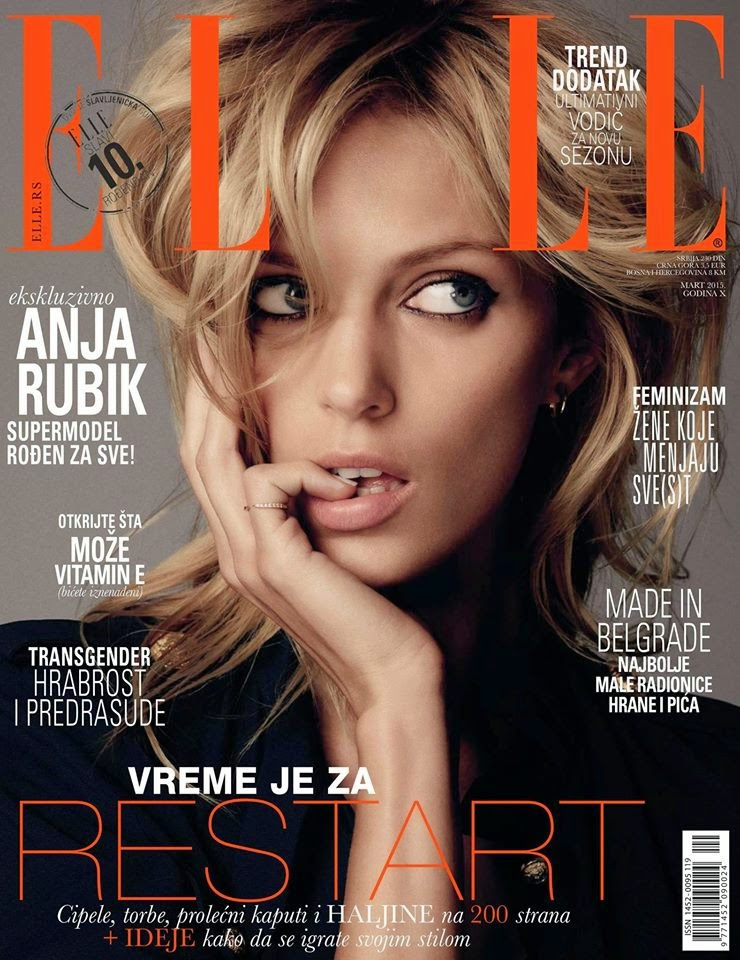 Model: Anja Rubik by Paul Schmidt for Elle Serbia March 2015
