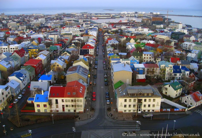 Reykjavik from the top of Hallgrímskirkja (the church of Iceland)