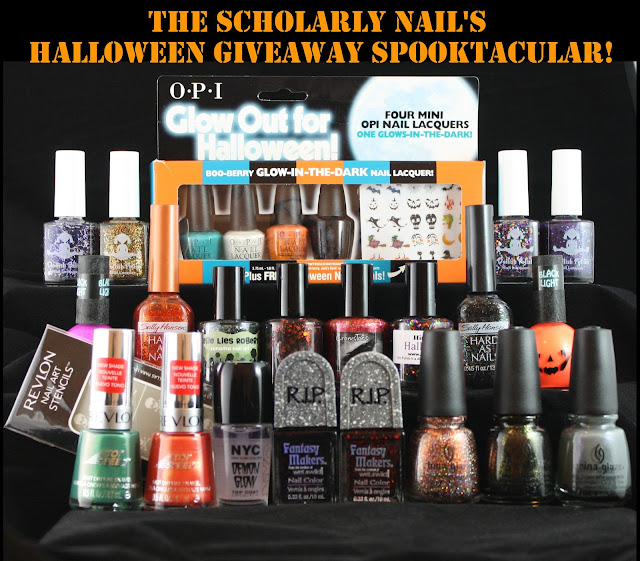 The Scholarly Nail&#39;s Halloween Giveaway Spooktacular!
