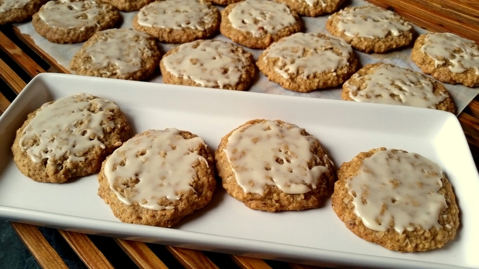 Mennonite Girls Can Cook: Iced Oatmeal Pecan Cookies