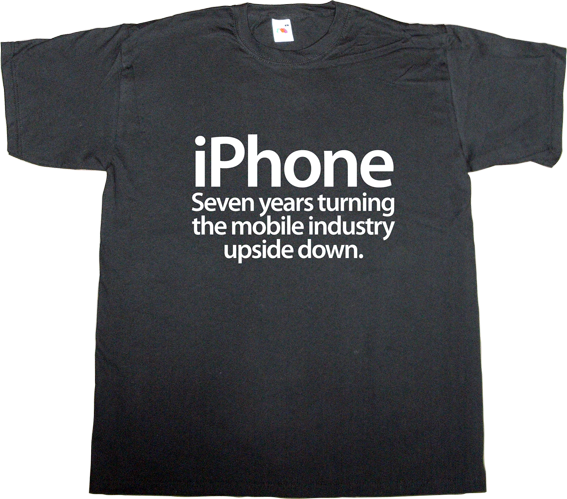 anniversary apple iphone ios disruptive innovation t-shirt ephemeral-t-shirts