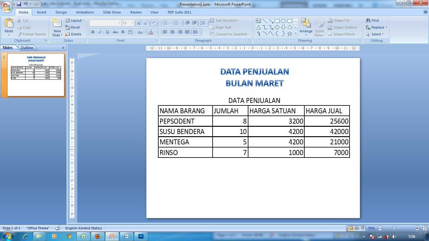 Cara membuat paste link excel ke power point