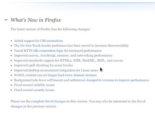 Firefox 5.0 ReleaseNotes