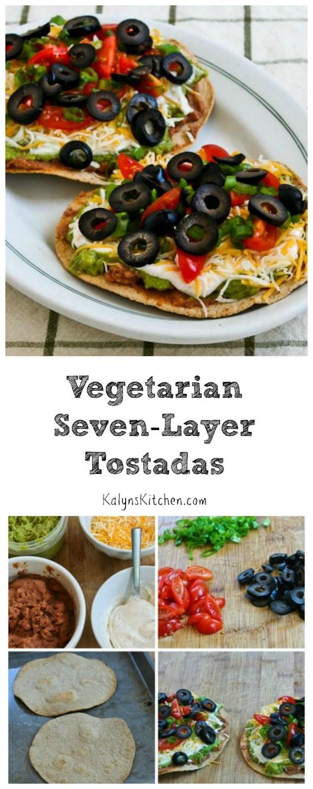 Vegetarian Seven-Layer Tostadas [from KalynsKitchen.com]