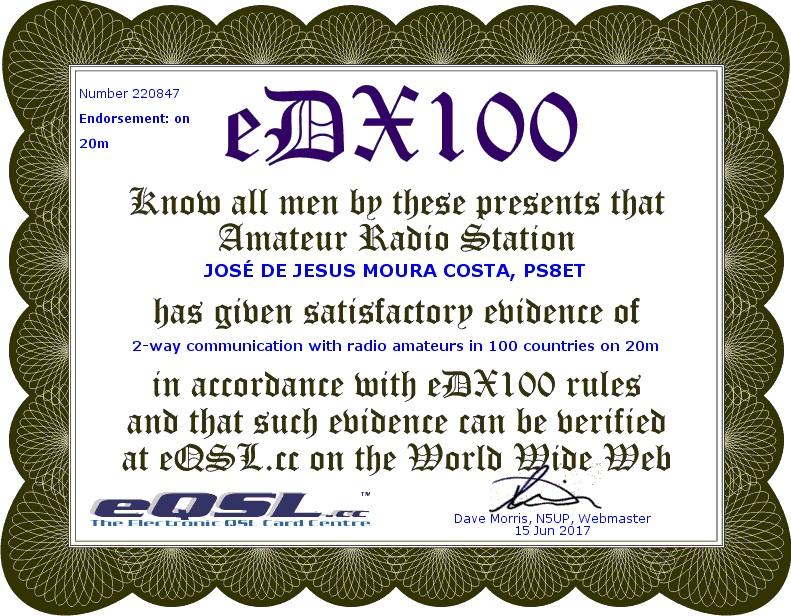 eDX100 20m