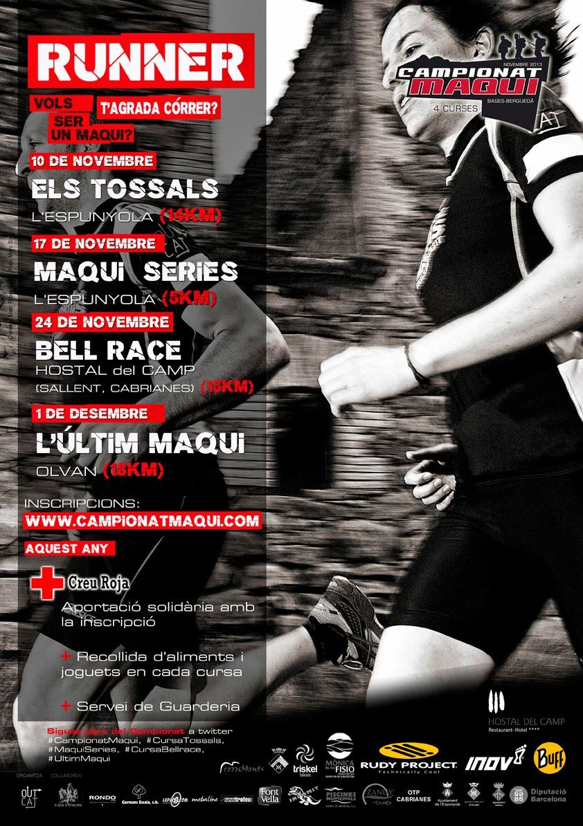 Cartell promocional campionat maqui de curses de muntanya Bages berguedà 2013