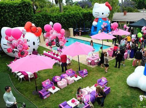 Fiesta hello kitty party ideas decoracion en fiestas for Decoracion para albercas