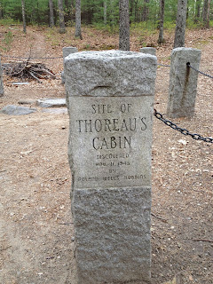 Site Marker of Thoreau's Cabin at Walden Pond