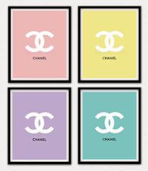 Set of Four 8x10 Chanel Prints $55