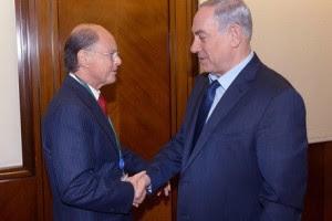 Primeiro-ministro israelense Benjamin Netanyahu recebe o líder da Igreja Universal Edir Macedo