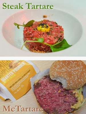 McTartare McDonalds raw burger steak tartare