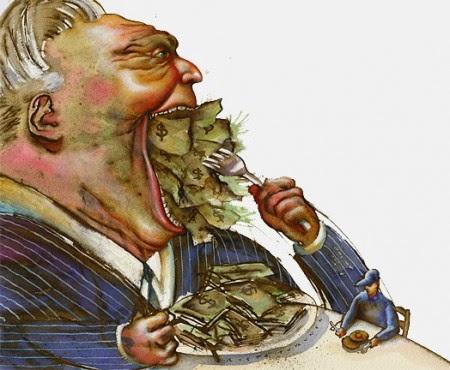 Fogocitación de la economía real por las élite económicas