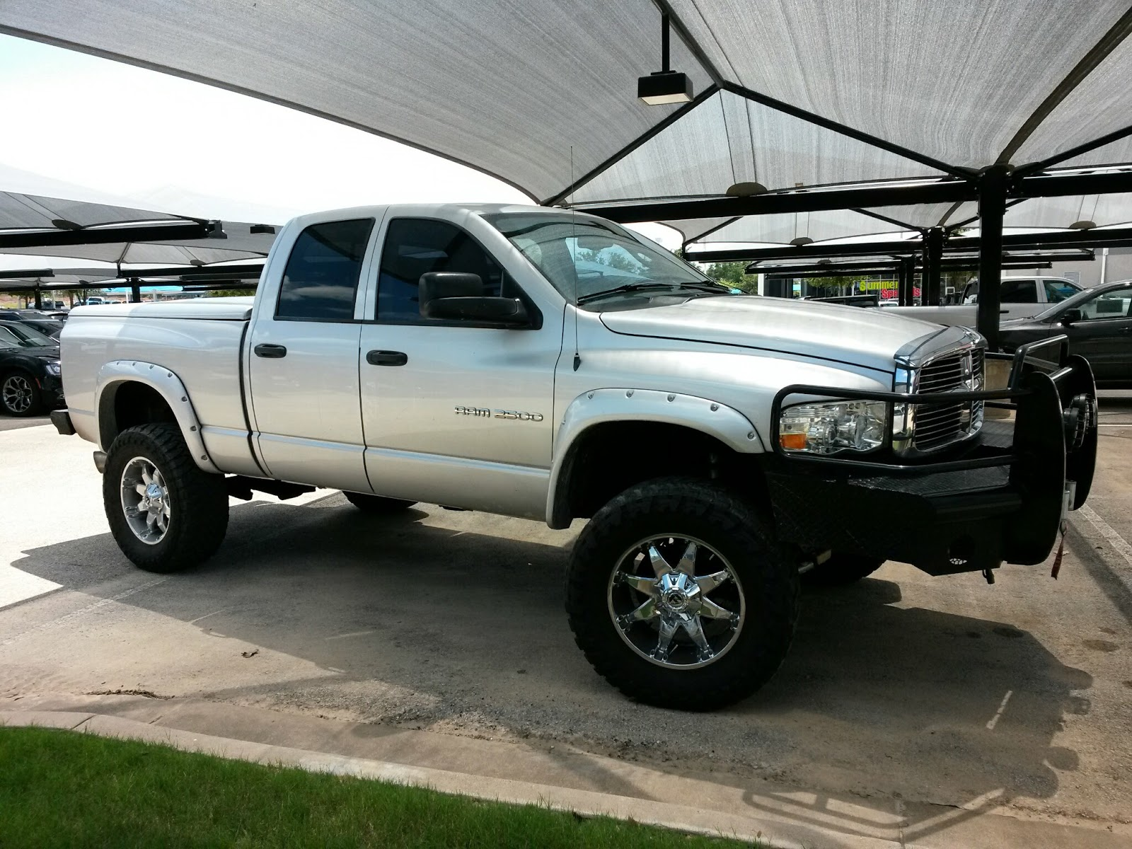 Tricked Out Banks Monster Powered Silver 2005 Dodge Ram 2500 4x4 5 9