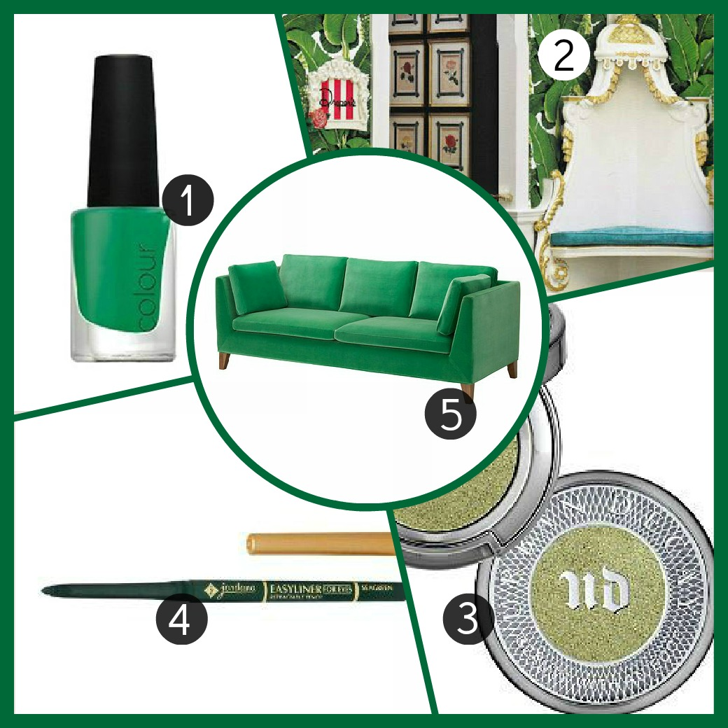 Friday Five | Color Crave = Lush Leafy Greens with Urban Decay, IKEA, CND, and Jordana | Manicurity.com