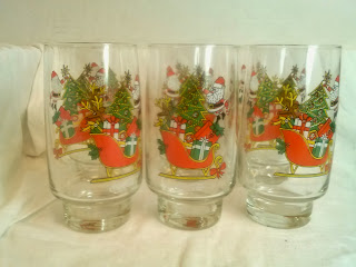 McCrory Coca Cola Santa collectible glasses