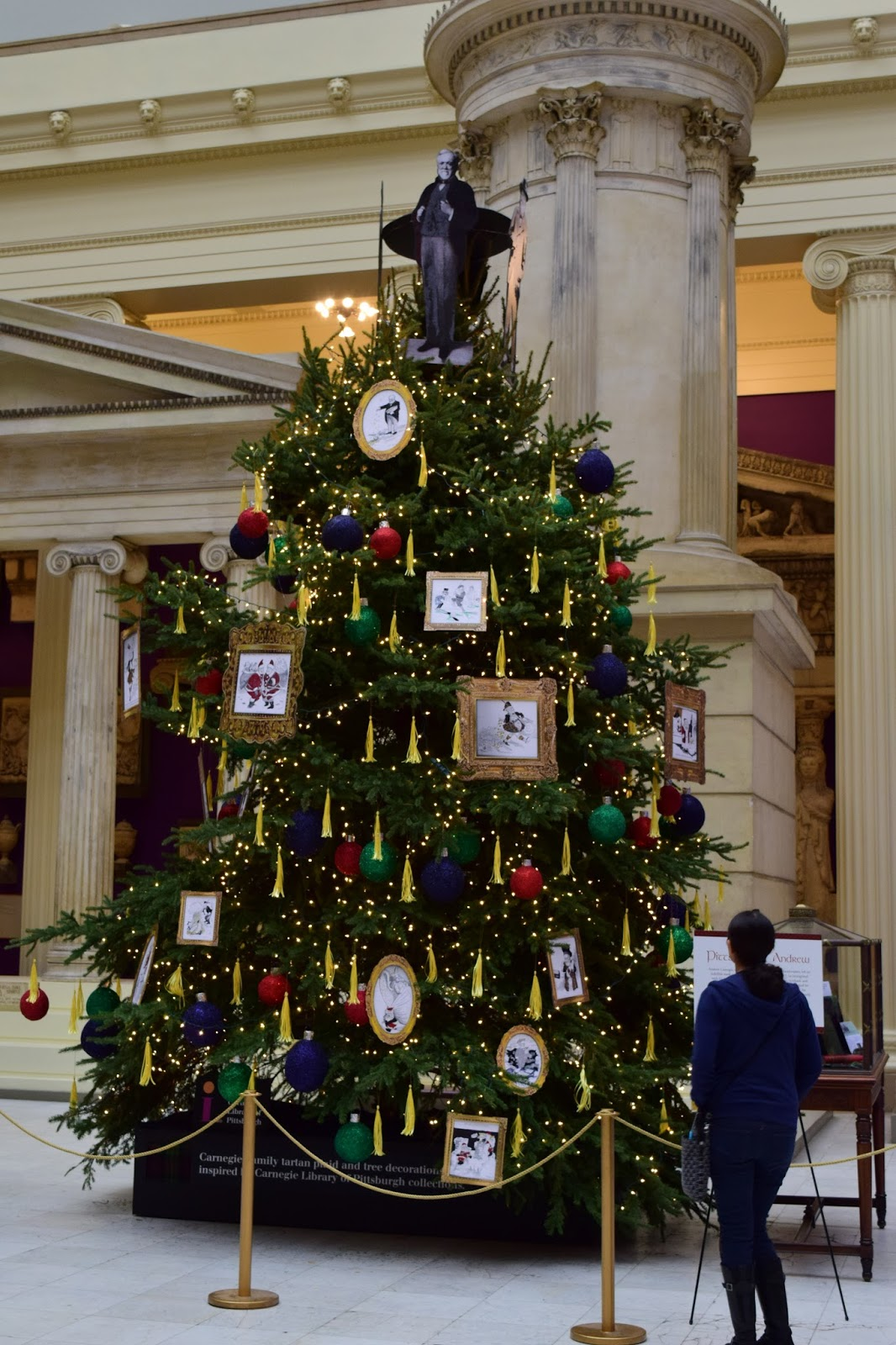 The Christmas Tree Salute To Pittsburghs Steel Tycoon And Philanthropist Carnegie Moved To Pittsburgh At The Age Of 13 Began Working In A Cotton Factory