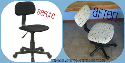 desk chair before and after