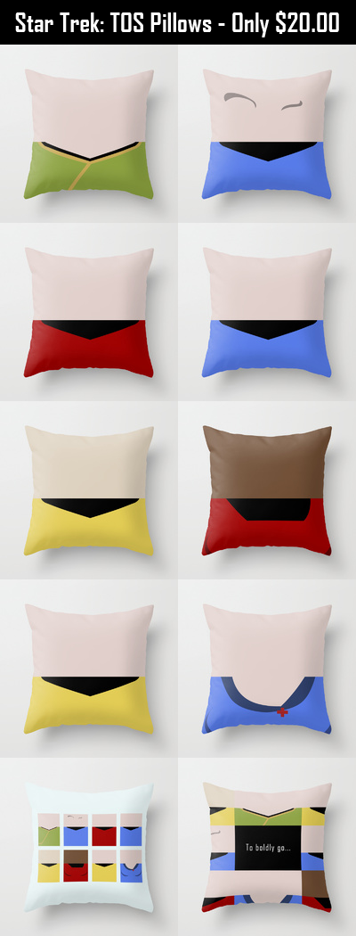 Star Trek The Original Series Throw Pillows