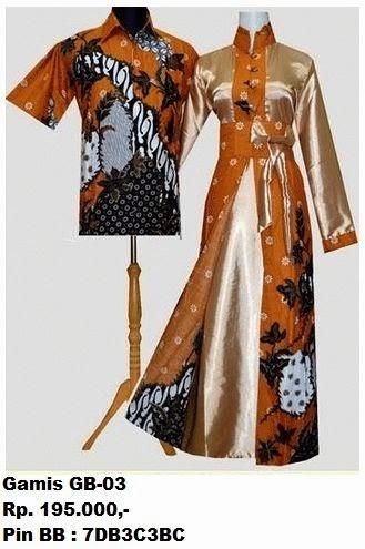Gambar Baju Gamis Batik Couple