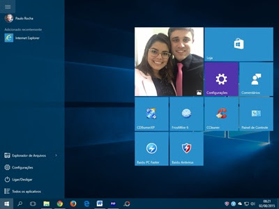 Tela Windows 10 do blogueiro Paulo Rocha