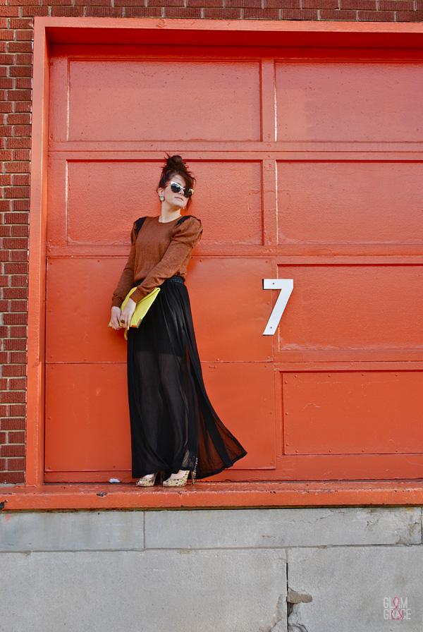 Akron Fashion - Sheer Skirt Overlay
