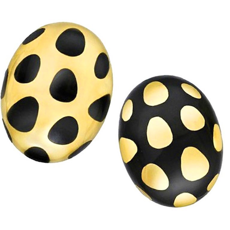 Tiffany Co Black Onyx Earrings