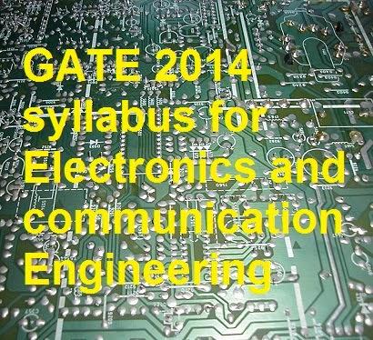 GATE ECE syllabus 2015