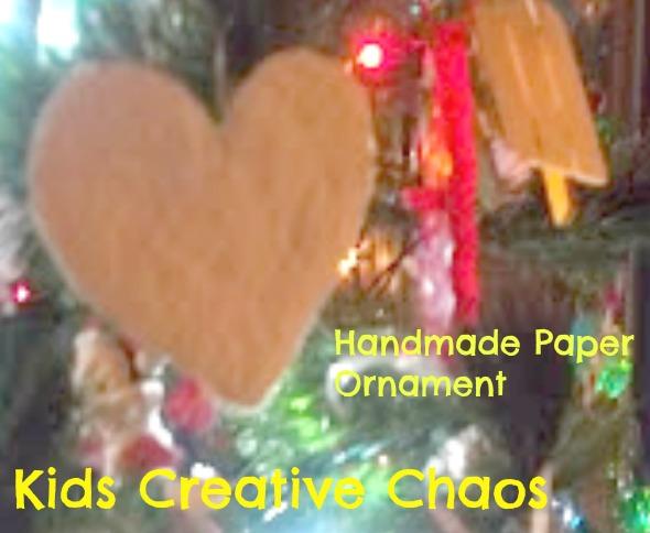 DIY Handmade Paper Pulp Heart Christmas Tree Craft Ornament