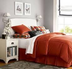 Dormitorio en naranja y gris dormitorios colores y estilos for Dormitorio naranja