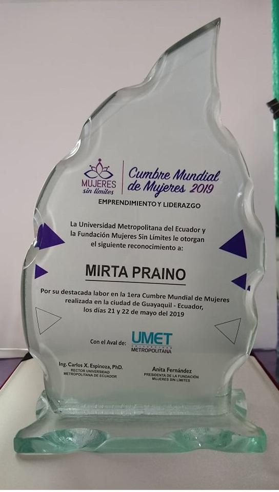 Reconocimiento, Universidad Metropolitana del Ecuador y Fundacion Mujeres Sin Limites