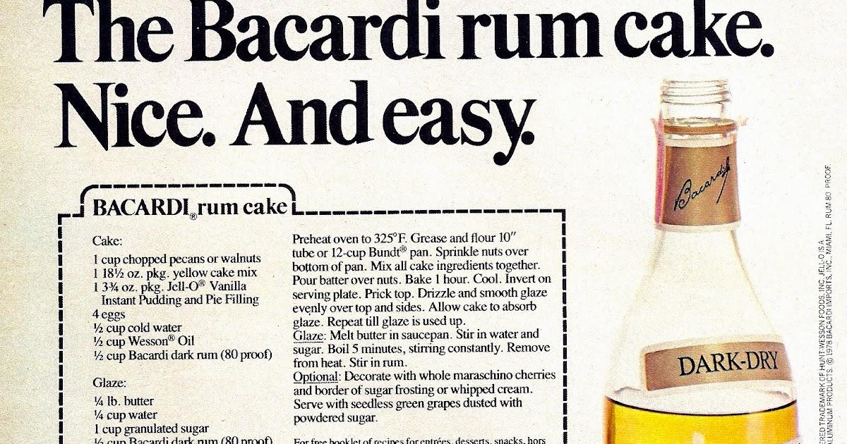Texas Rum Cake Recipe