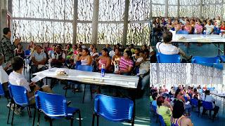 Los docentes del INEM cartagena Co. invitaron a los padres de familia de Flor del Campo a matricular sus hijos en el INEM