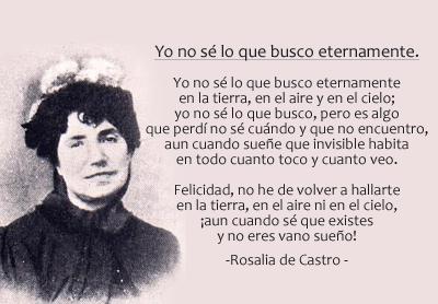 Rosalia de Castro Yo no sé lo que busco eternamente
