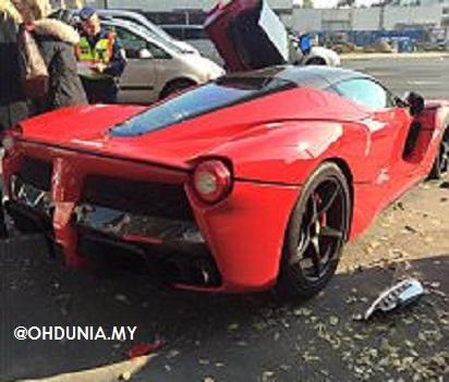 LaFerrari bernilai RM6.55 juta kemalangan